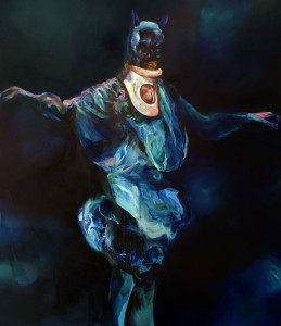 Batman s ortézou, oil on canvas 180 x 150 cm, 2009