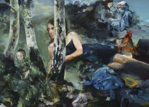 S vědomím bez vědomí/ With Knowledge Without Knowledge, oil on canvas 120 x 156 cm, 2013