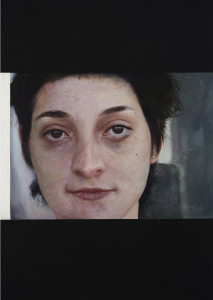 Hlava I. / Head I., oil on board, 170 x 130 cm, 2005
