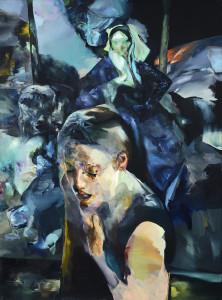 Třpytivost samoty / Brilliance of Solitude, oil on canvas 190 x 140 cm, 2012