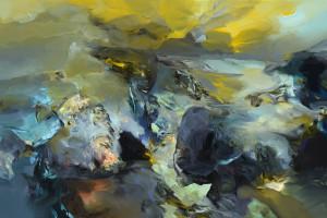 KRJINA TICHA / LANDSCAPE OF SILENCE / 2013 / olej, plátno / oil, canvas / 100x150 cm