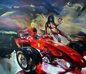 F1, oil on canvas 200 x 250 cm, 2010