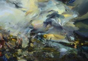Karjina Requiem / Landscape Requiem, oil on canvas 100 x 150 cm, 2013
