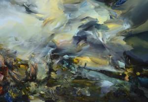 Karjina Requiem / Landscape Requiem, oil on canvas 100 x 150 cm, 2013