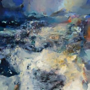 DEN A NOC / DAY AND NIGHT / 2014 / olej, plátno / oil, canvas / 130x130 cm