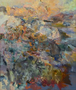 U JEZERA / AT THE LAKE / 2014 / olej, plátno / oil, canvas / 130x110 cm