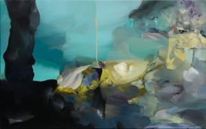 V HLUBINĚ / IN THE DEPTH / 2014 / olej, plátno / oil, canvas / 60x95 cm