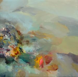 TŘPYTIVOST / GLITTER / 2014 / olej, plátno / oil, canvas / 70x70 cm
