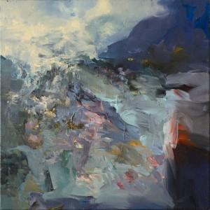 POD VRCHEM / BELOW THE HILLTOP / 2014 / olej, plátno / oil, canvas / 70x70 cm
