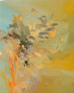 V ORANŽOVÉ / IN ORANGE / 2014 / olej, plátno / oil, canvas / 50x40 cm