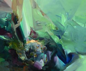 SE SVĚTLEM / WITH LIGHT / 2014 / olej, plátno / oil, canvas / 50x60 cm